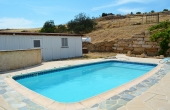 pool and guest house